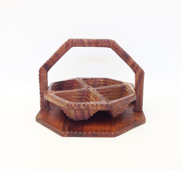 Hand Carved Folding Basket