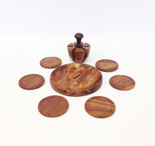 Wooden Table Mats with Stand