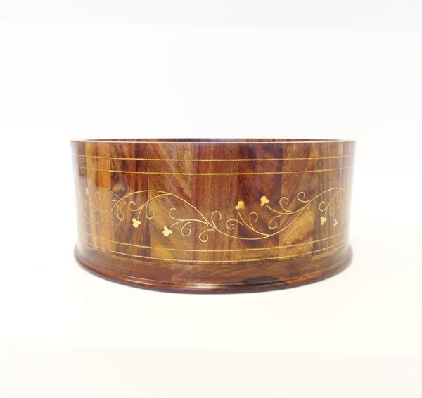 Wooden Decorating Box with Metal Carving